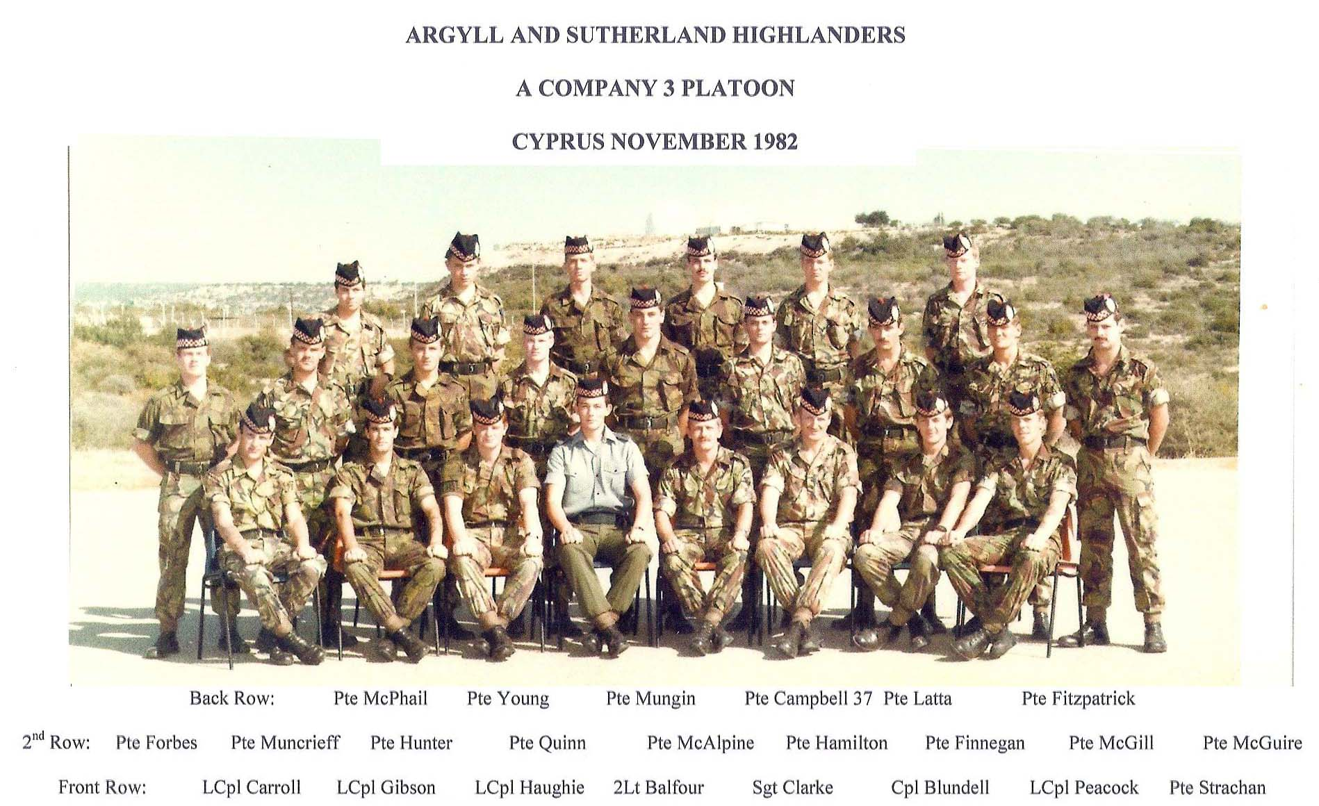 Argyll And Sutherland Highlanders History 1945 To Present Day Company And Platoon Photographs